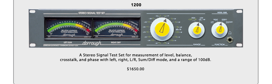 Dorrough Audio Meters