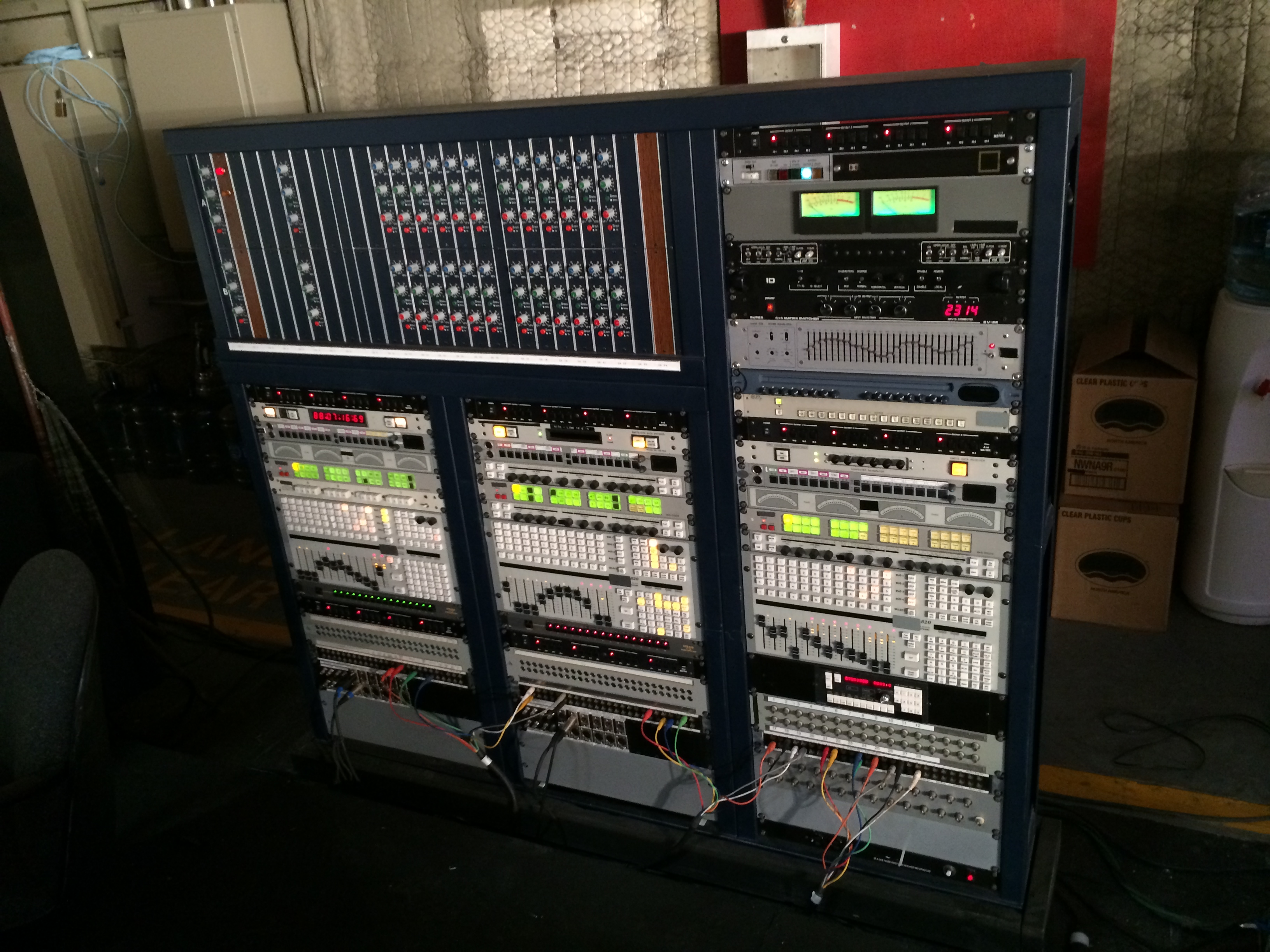 Triple Audio Rack (Shallow) with Gack