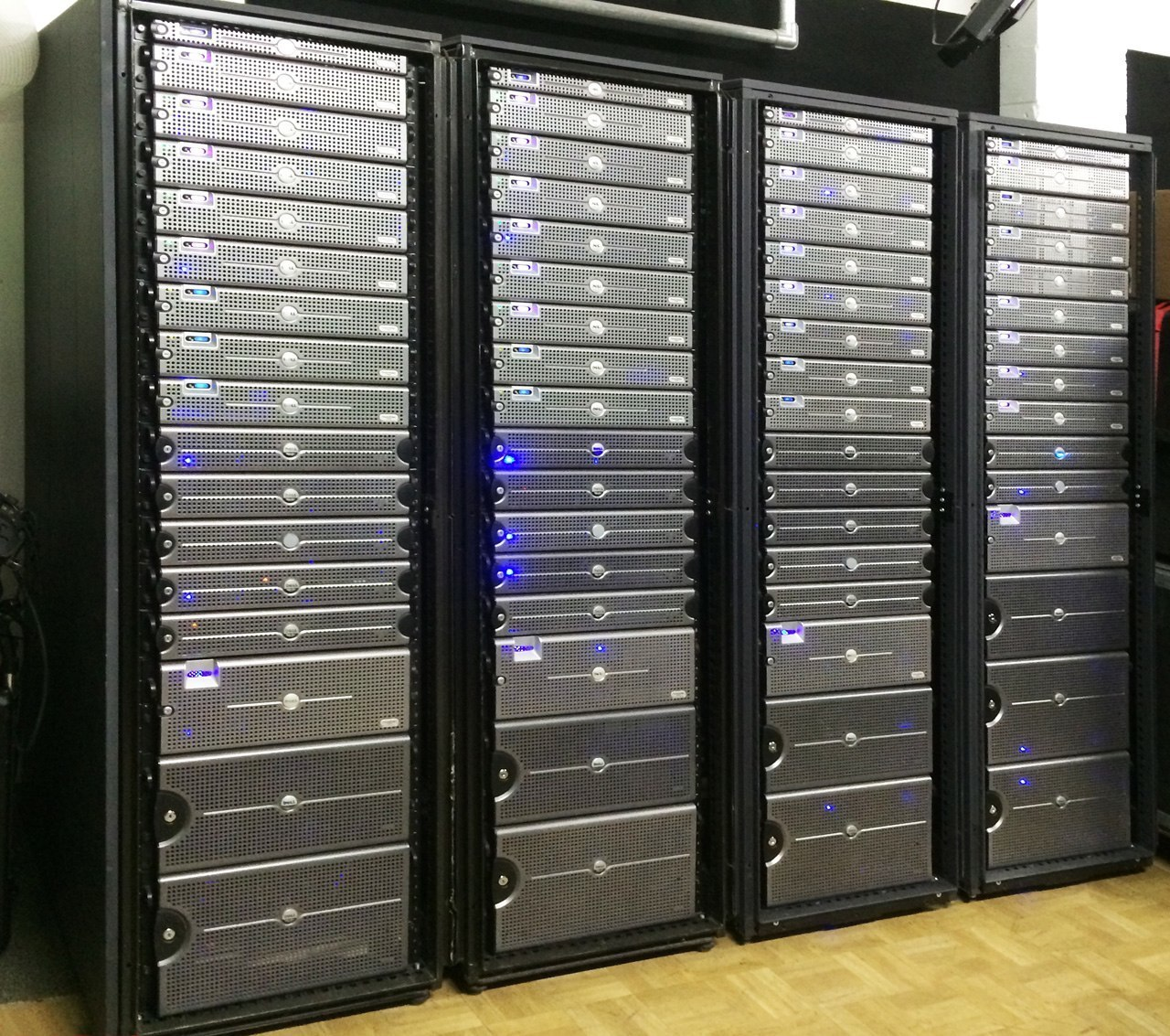 Dell Servers in Racks