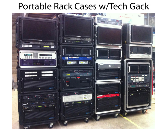 Portable Rack Cases w/Tech Gack